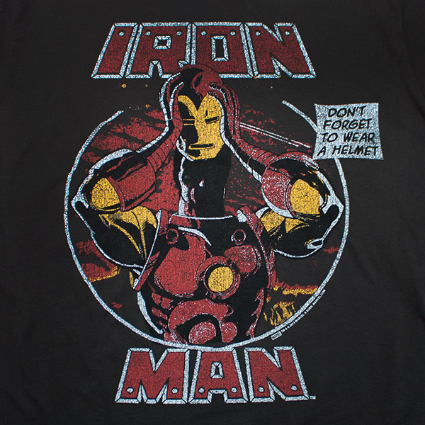Iron Man Helmet Junk Food Brand Shirt