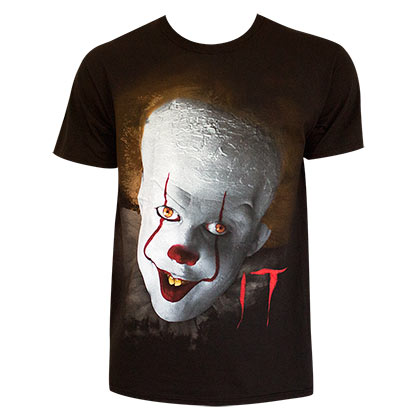 It Men's Black Pennywise T-Shirt