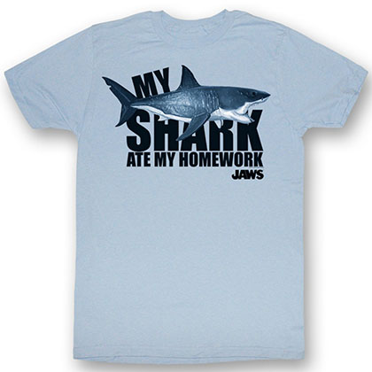 Jaws No Homework T-Shirt