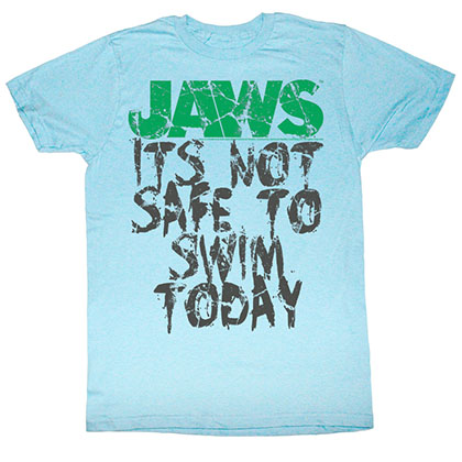 Jaws Jaws Not Safe T-Shirt