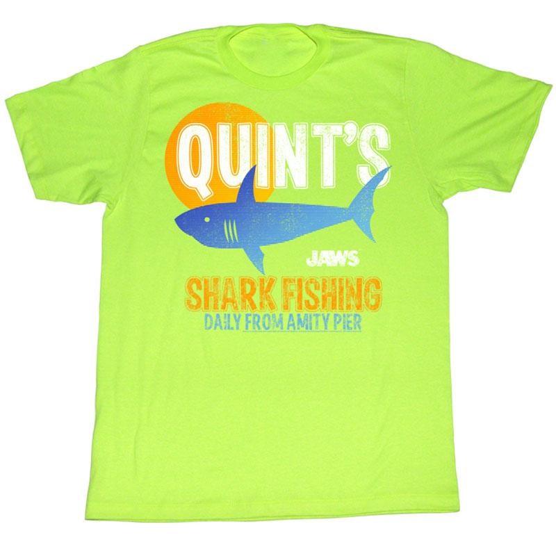 Jaws quint fish t shirt for Jawbone fishing shirts