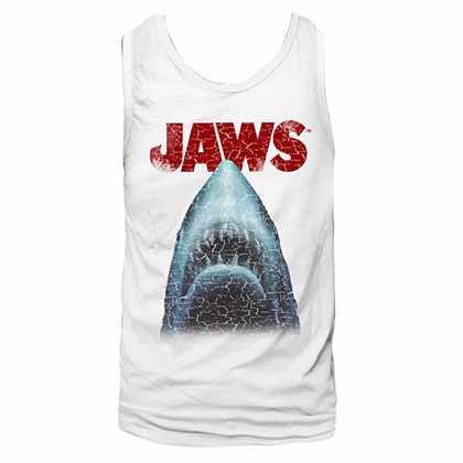 Jaws Stressed White TShirt