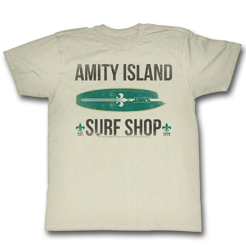 Jaws surf shop t shirt for Surf shop tee shirts