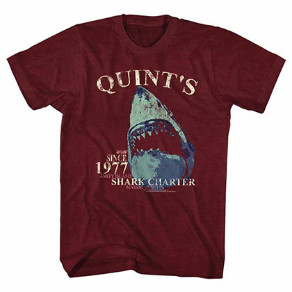 Jaws Quints Charter Red T-Shirt