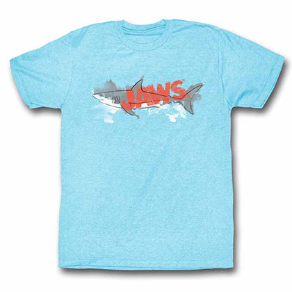 Jaws Watermark Blue Tee Shirt