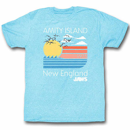 Jaws Pastels Blue Tee Shirt