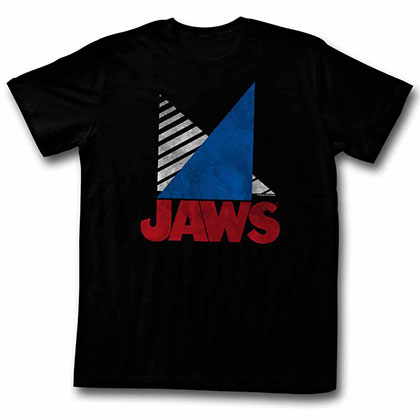 Jaws Tri Black TShirt