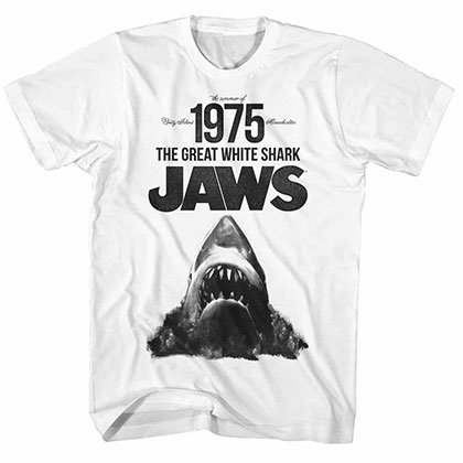 Jaws Summer Of '75 White TShirt