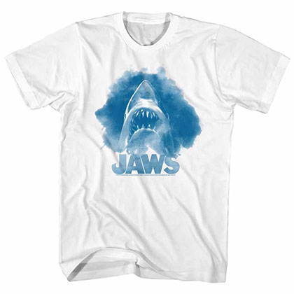 Jaws Watercolor White TShirt