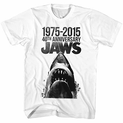 Jaws 40 Years White TShirt