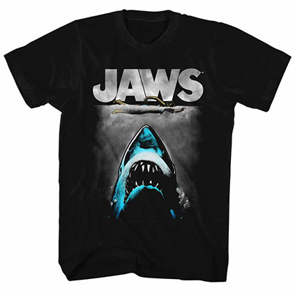 Jaws Lichtenstein Black Tee Shirt