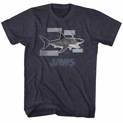 Jaws Jaws Anatomy Blue Tee Shirt