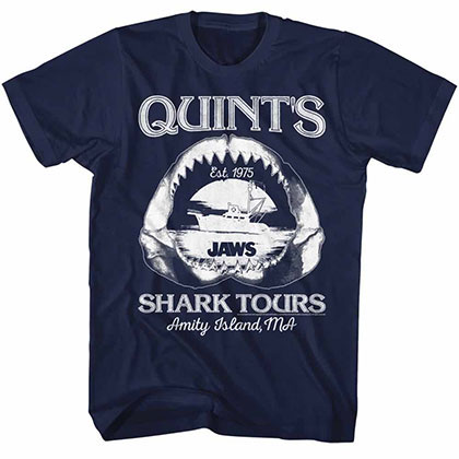 Jaws Shark Tours Blue TShirt