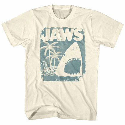 Jaws Surf Club Poster Off White TShirt