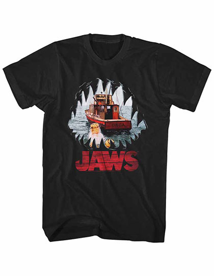 Jaws Mouth Pov Black TShirt