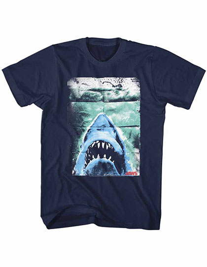 Jaws Folded Poster Blue TShirt