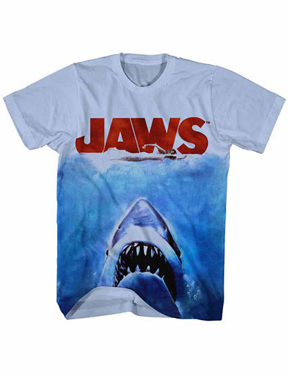 Jaws Poster Sub Blue Tee Shirt