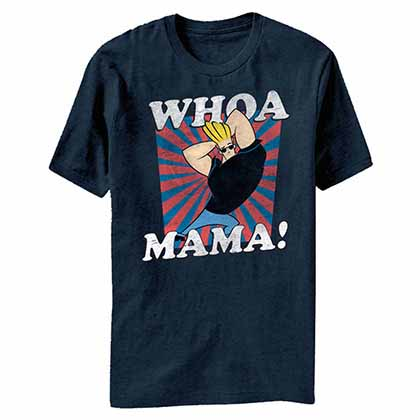 Johnny Bravo Whoa Mama Blue T-Shirt