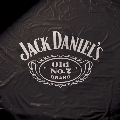 Jack Daniel's 8 Foot Black Vinyl Pool Table Cover
