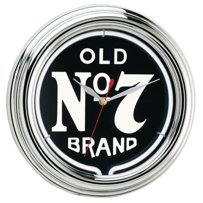 Jack Daniel's Old No. 7 Neon Clock