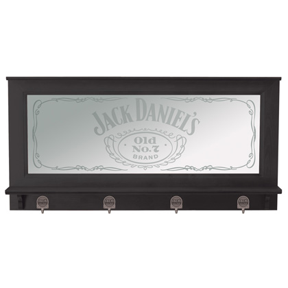 Jack Daniel's Pub Mirror With Coat Hangers