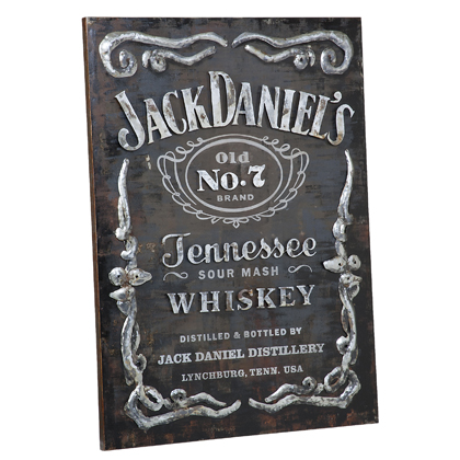 Jack Daniel's Label Metal Wall Art