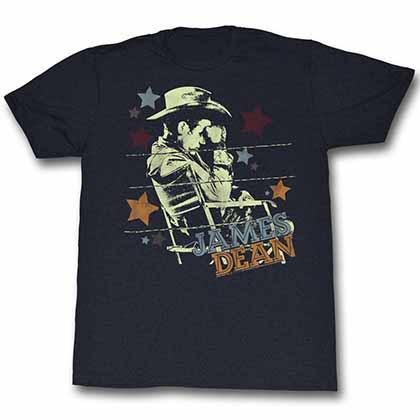 James Dean Cowboy Mens Black T-Shirt