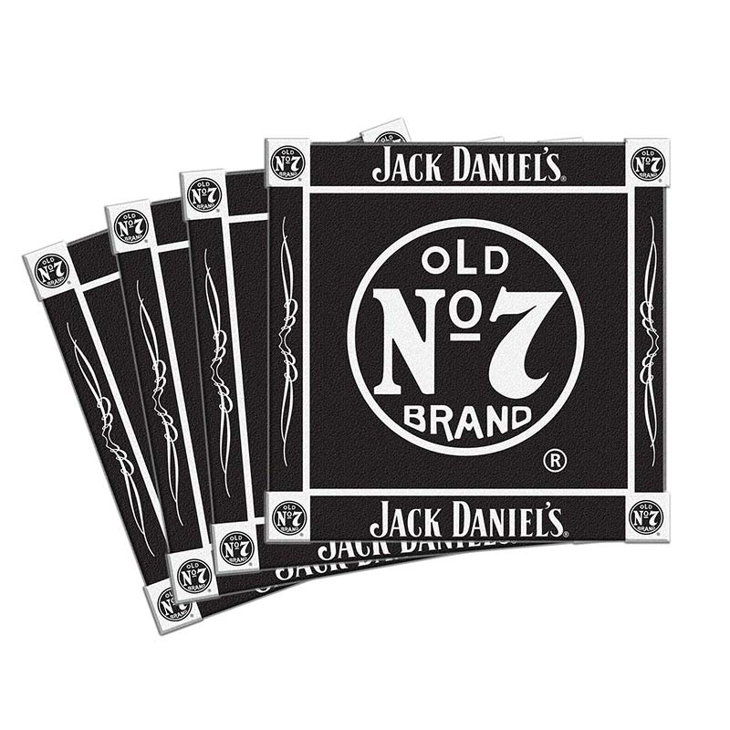 Jack Daniels Black Ceramic Coaster Four Pack