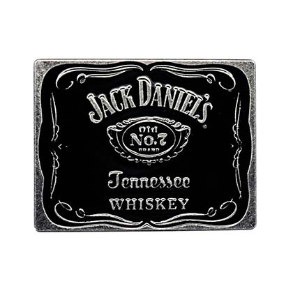 Jack Daniels Classic Black Belt Buckle