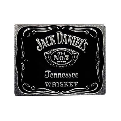 Jack Daniels No. 7 Classic Black Belt Buckle