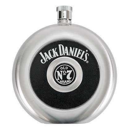 JD ROUND FLASK WITH SHOT PLACEHOLDER