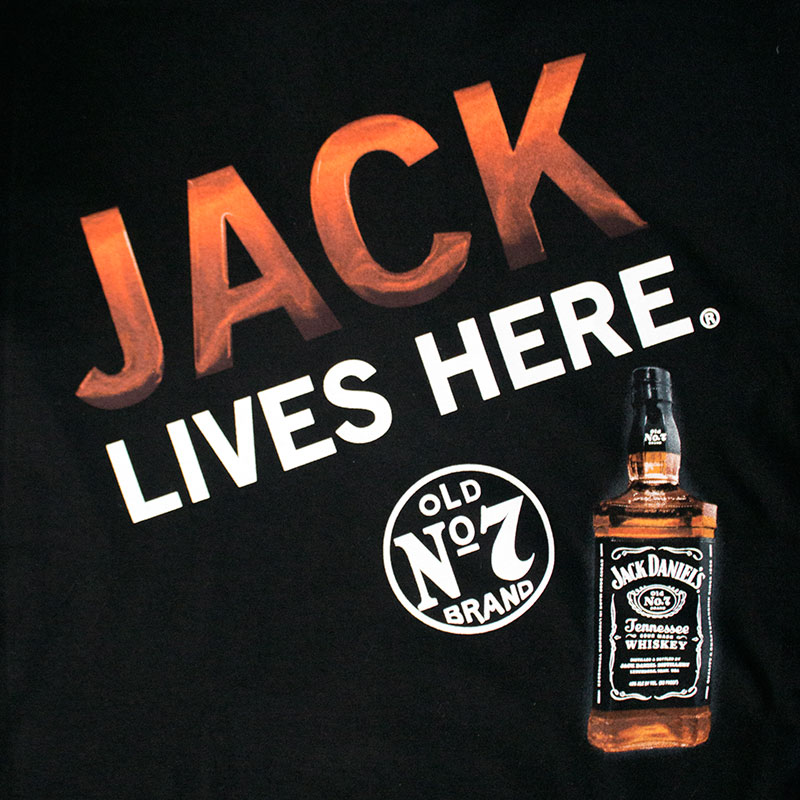 Jack Daniels Men's Black Jack Lives Here Tee Shirt