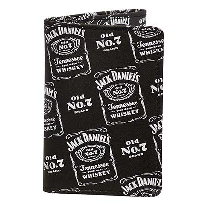 Jack Daniels Logos Whiskey Black Wallet
