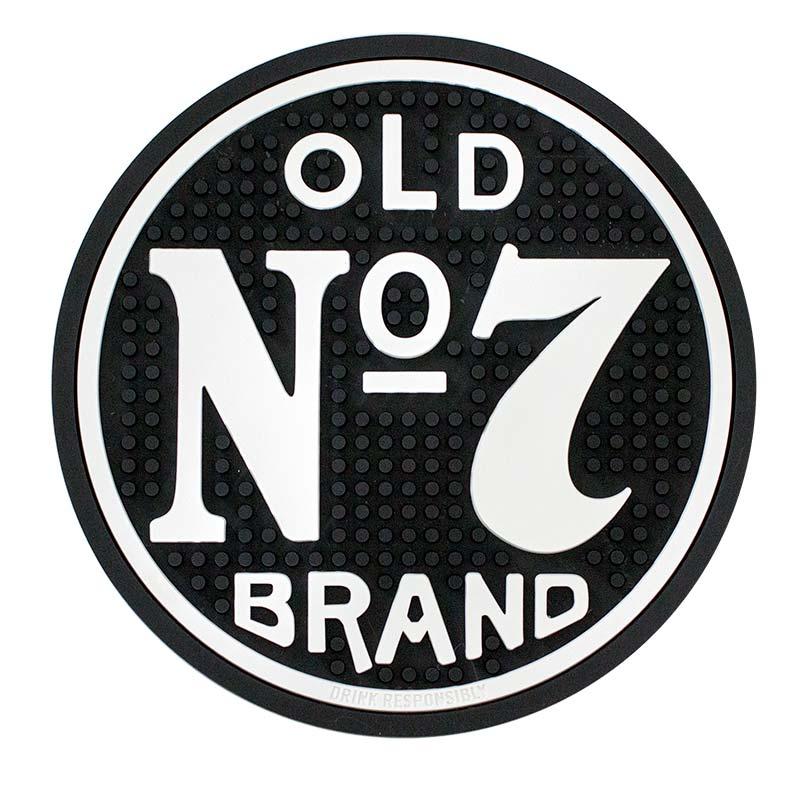 Jack Daniels Black Old No. 7 Round Bar Mat