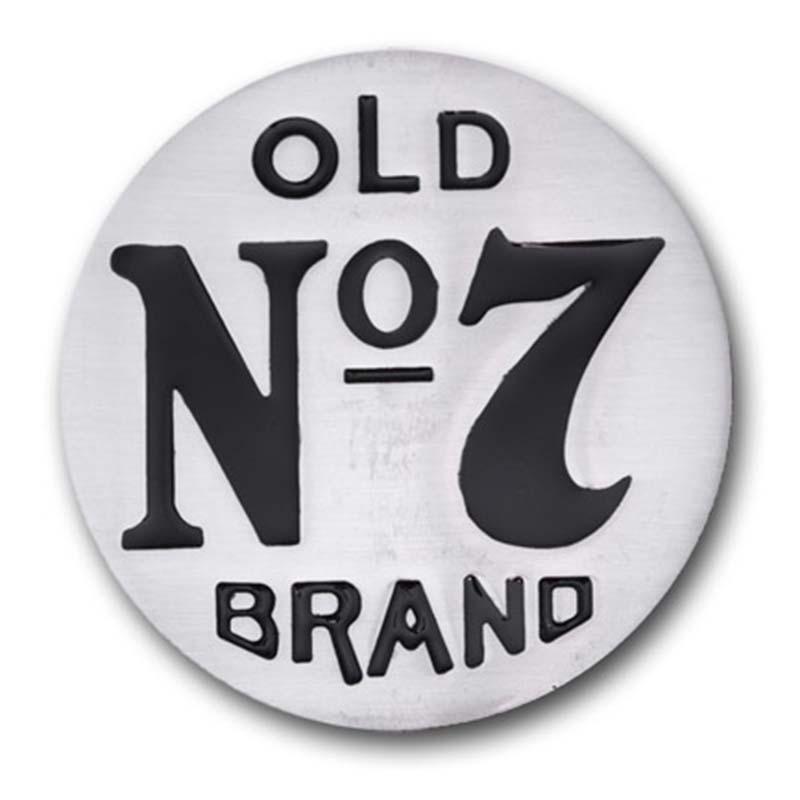 Jack Daniels Silver Old No. 7 Belt Buckle