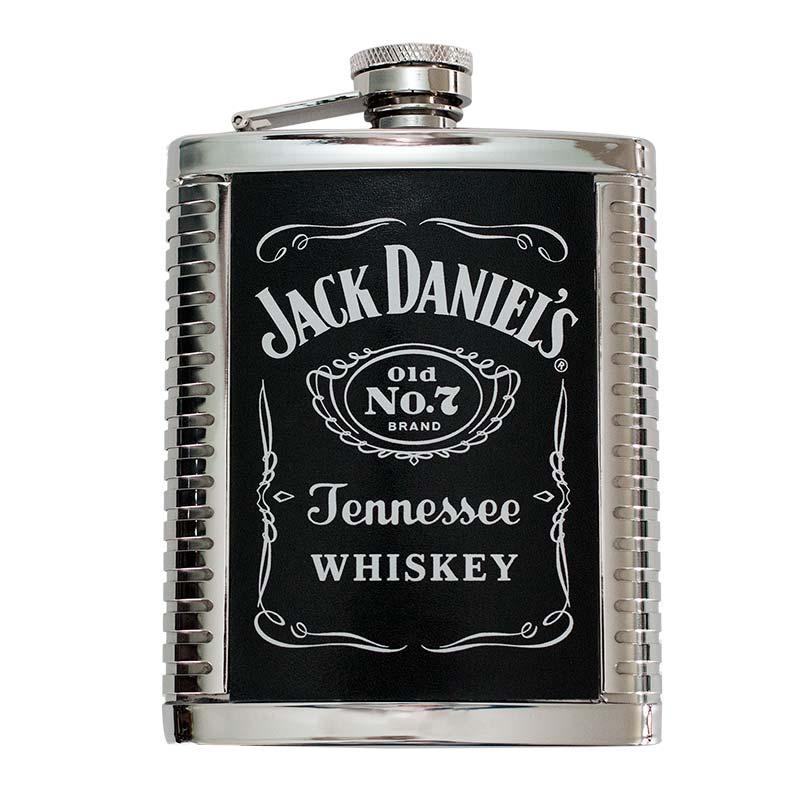 Jack Daniels 6 OZ Ribbed Flask