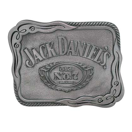 Jack Daniels No. 7 Silver Scroll Belt Buckle