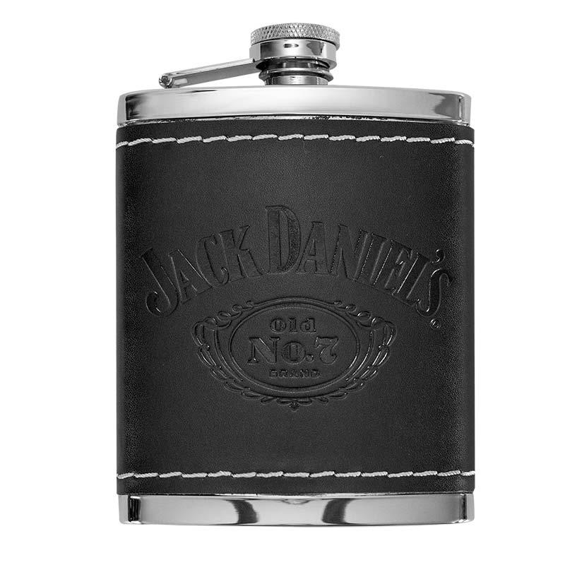 Jack Daniels Leather 6 OZ Flask