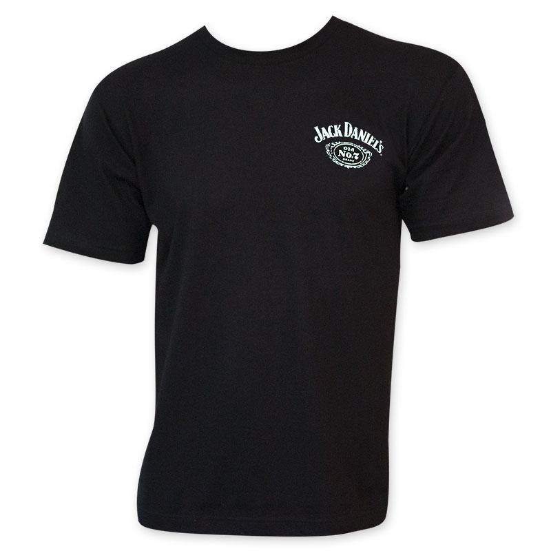 Jack Daniels Men's Black Sour Mash Whiskey T-Shirt