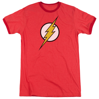 The Flash Classic Logo Ringer Tshirt