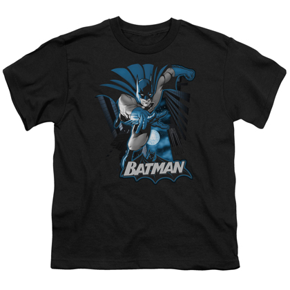 Batman Black and Blue Youth Tshirt
