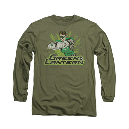Green Lantern Distress Rough Long Sleeve T-Shirt