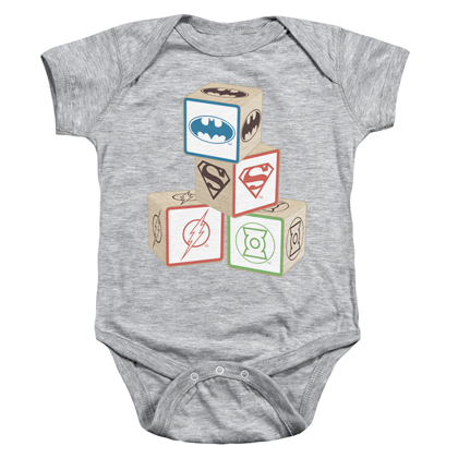 Justice League Blocks Baby Onesie