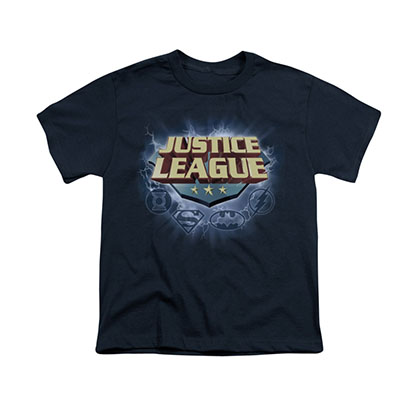 Justice League Storm Logo Blue Youth Unisex T-Shirt