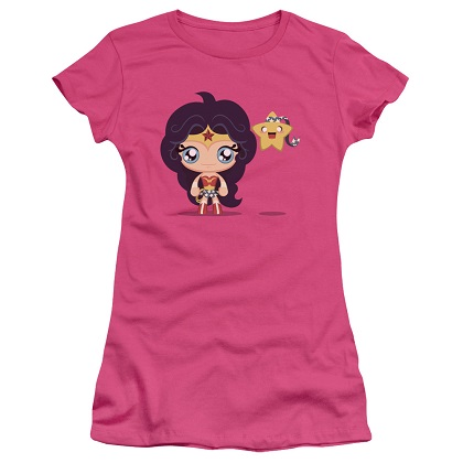 Wonder Woman Cute Women's Pink Tshirt