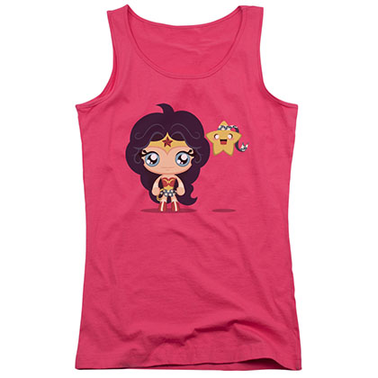 Wonder Woman Cite Chibi Pink Juniors Tank Top