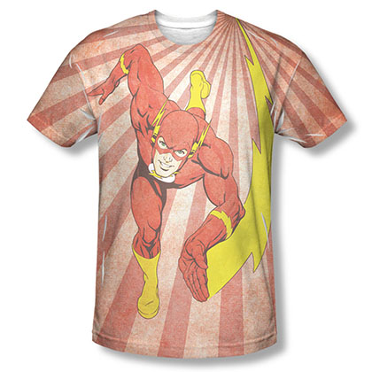 The Flash Speed Of Light Sublimation Red T-Shirt