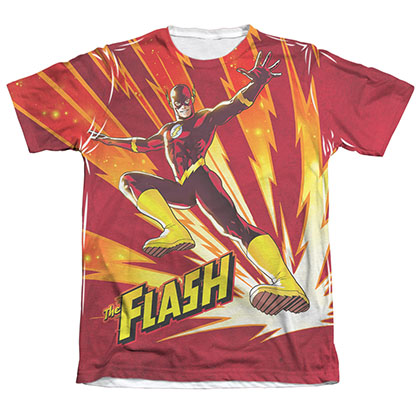 The Flash Lightning Flash Sublimation White T-Shirt
