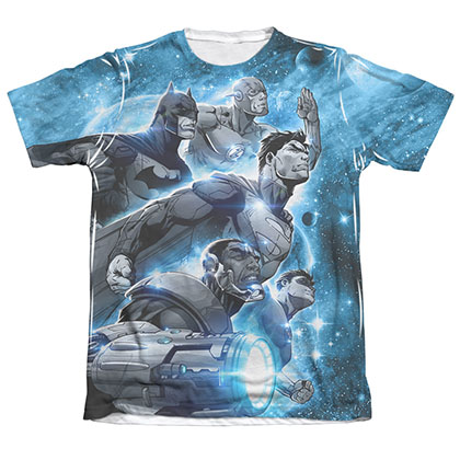 Justice League Atmospheric Sublimation Blue T-Shirt