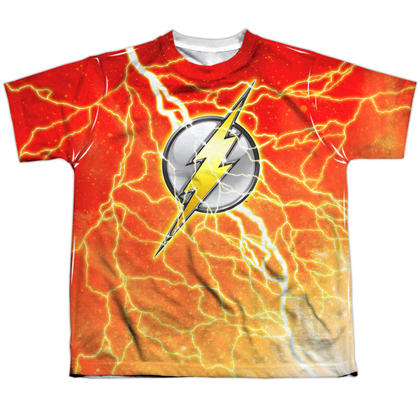 The Flash Lightning Logo Youth Tshirt